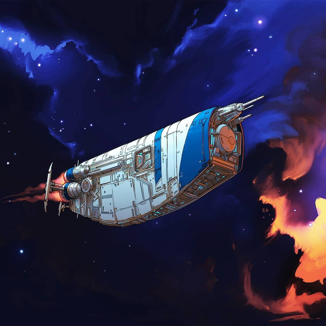 Everyday objects turned into spaceship illustrations (3b)