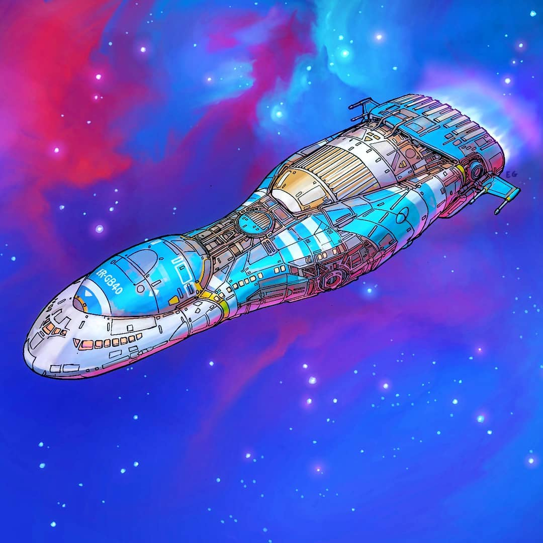 Everyday objects turned into spaceship illustrations (4b)