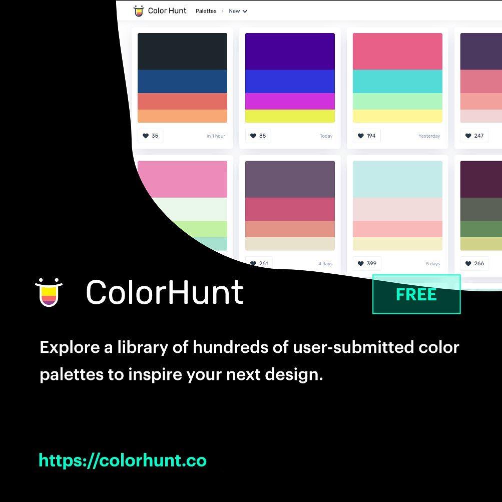 Free, Useful Design Tools - Colorhunt.co