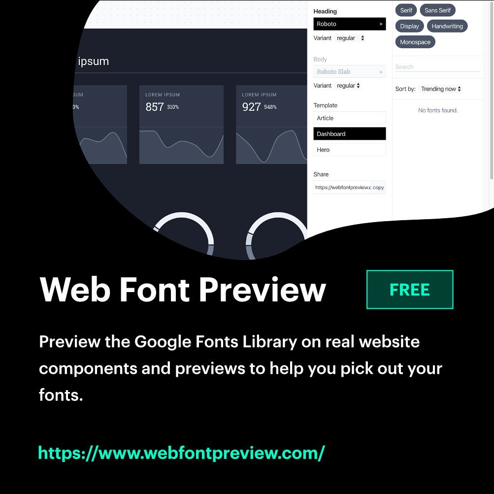Free, Useful Design Tools - Web Font Preview