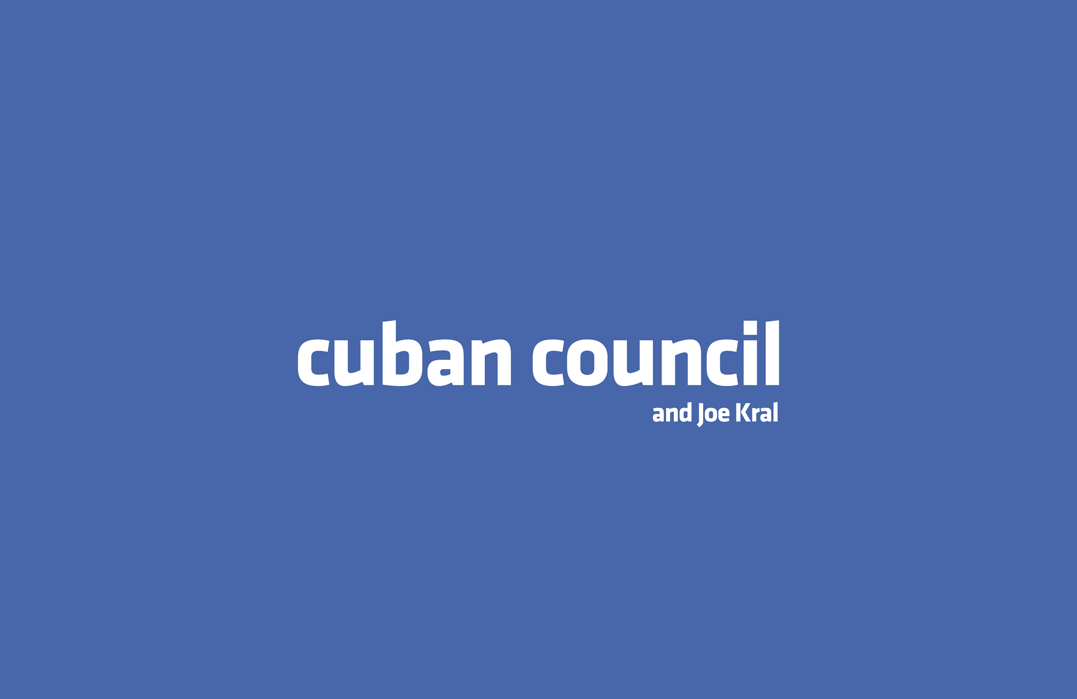 Cuban Council & Joe Kral - Designers of the Facebook logo