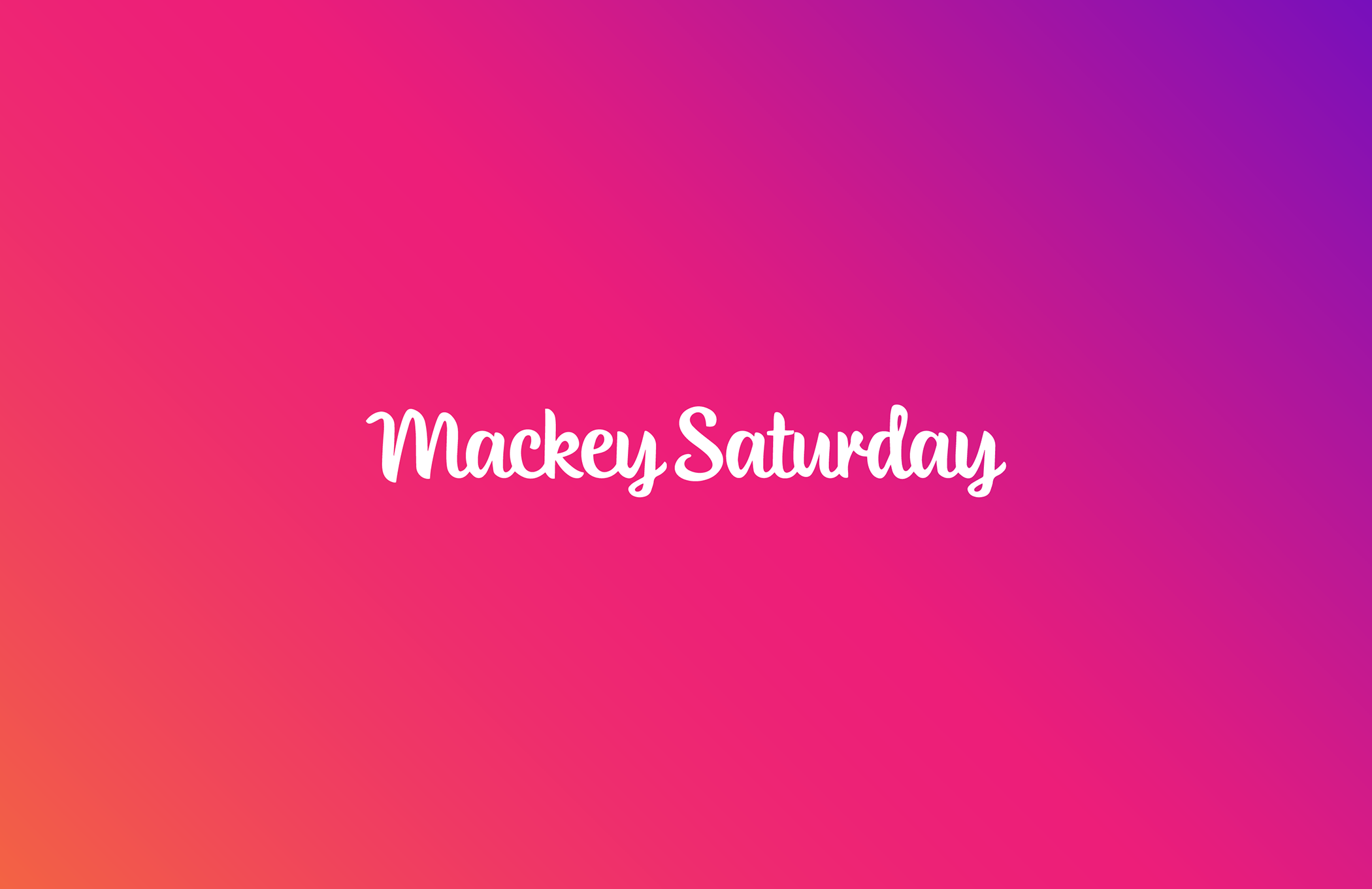Mackey Saturday - Agency behind the Instagram logo