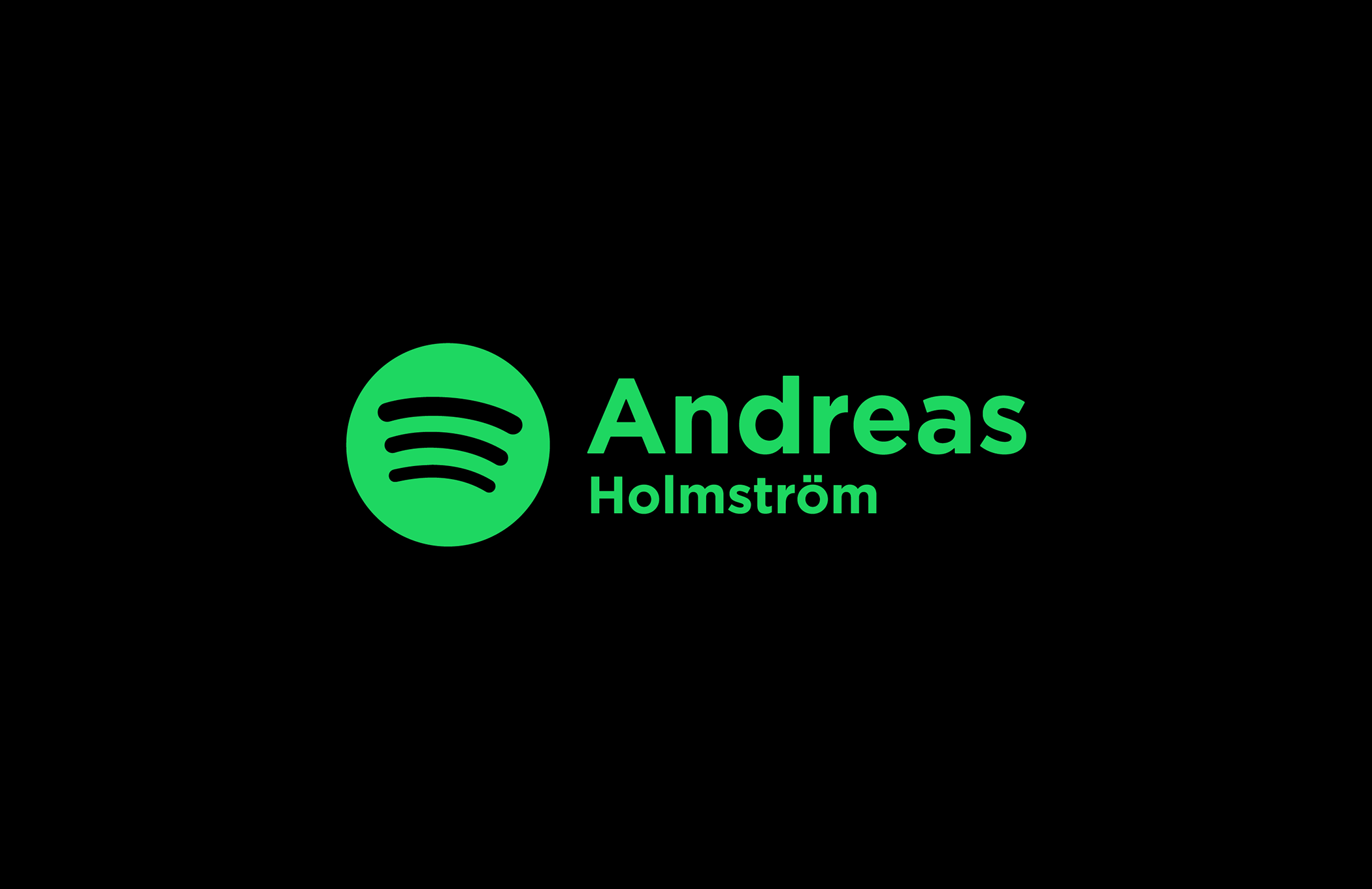 Andreas Holmstrom - Designer of the Spotify logo