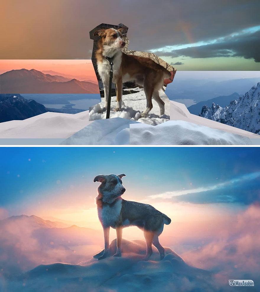 Photoshop editing, retouching, digital art by Max Asabin - 11