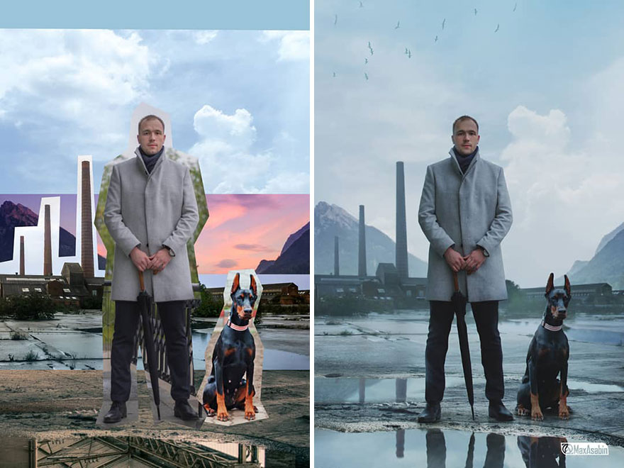 Photoshop editing, retouching, digital art by Max Asabin - 20
