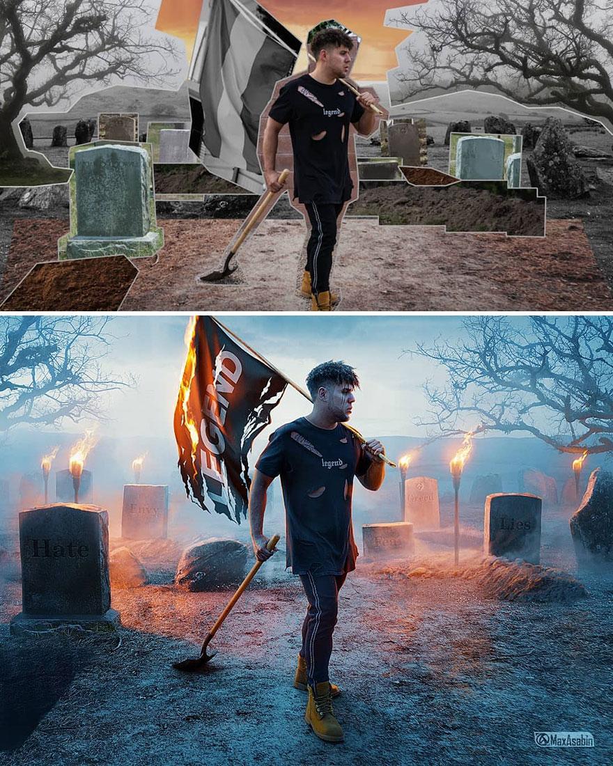 Photoshop editing, retouching, digital art by Max Asabin - 28