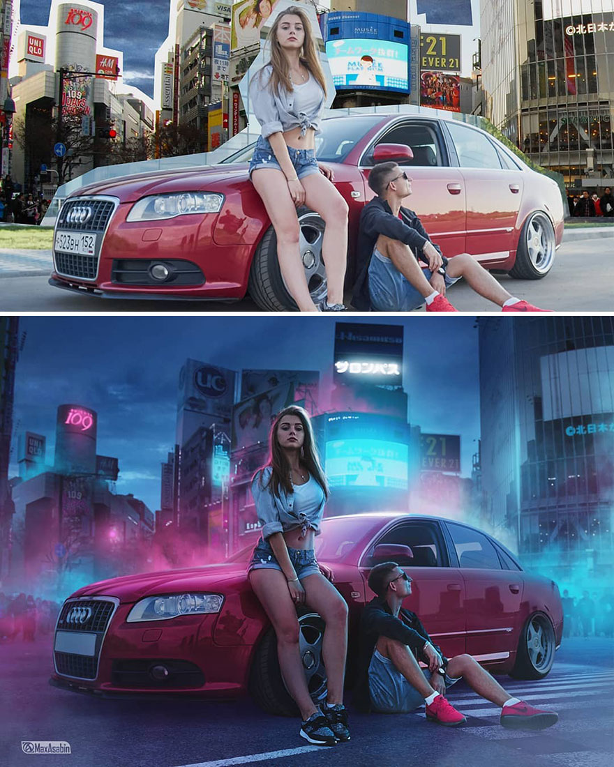 Photoshop editing, retouching, digital art by Max Asabin - 6