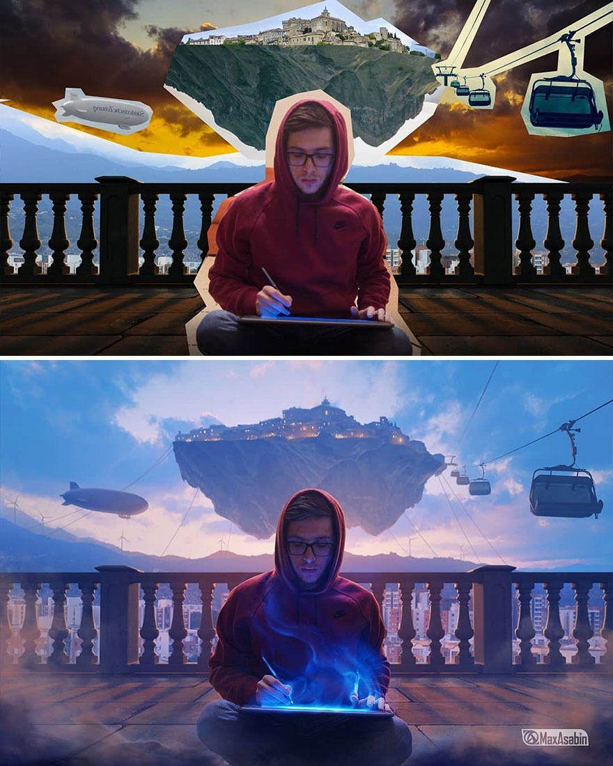 Photoshop editing, retouching, digital art by Max Asabin - 9