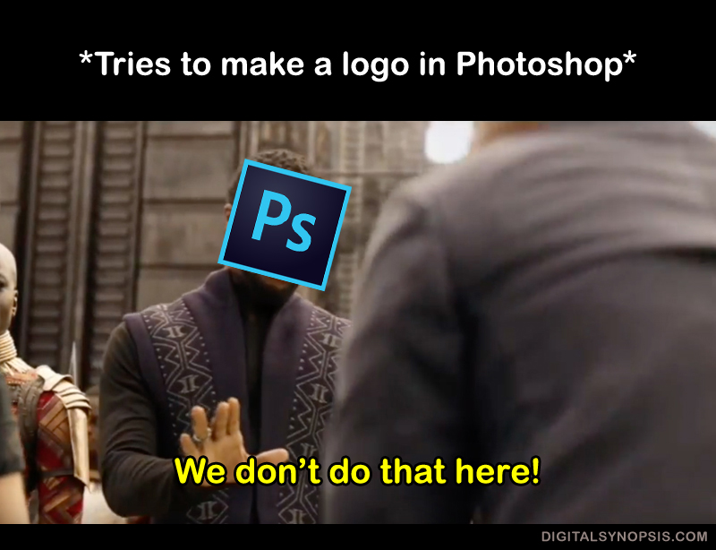 Tries to make a logo in Photoshop - We don't do that here