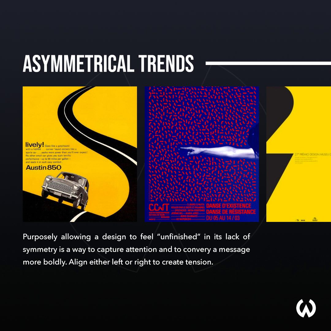 Graphic Design Trends 2020 - Asymmetrical