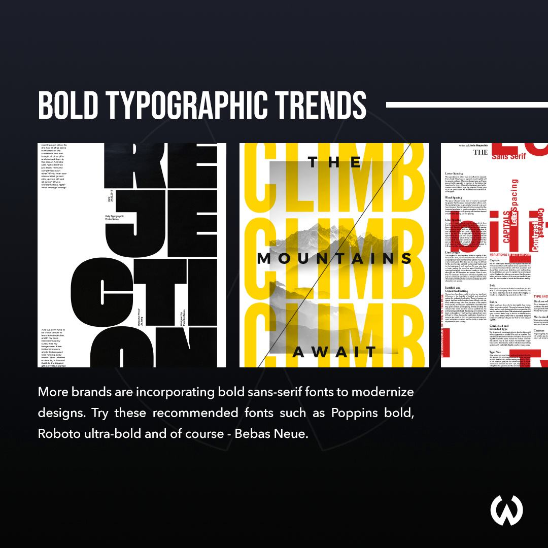 Graphic Design Trends 2020 - Bold Typography