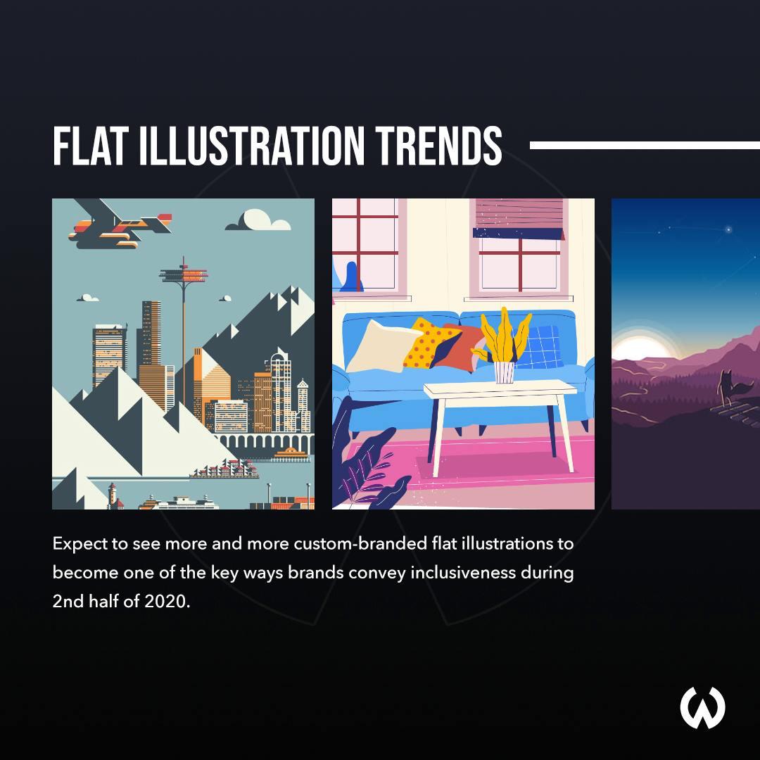 Graphic Design Trends 2020 - Flat Illustration