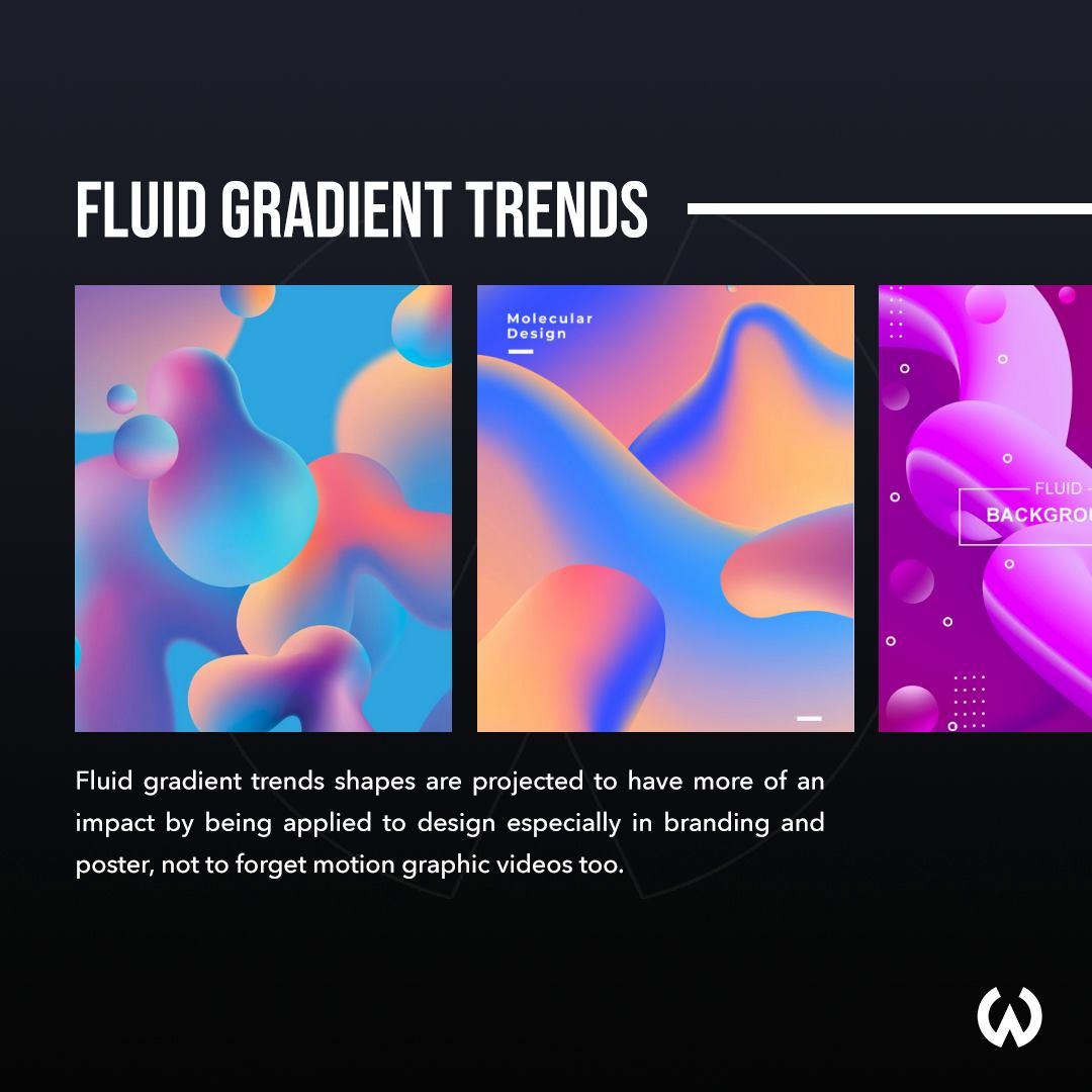 Graphic Design Trends 2020 - Fluid Gradients