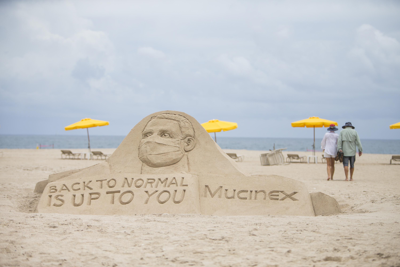 Mucinex - Wear a mask (Sand sculpture 1)