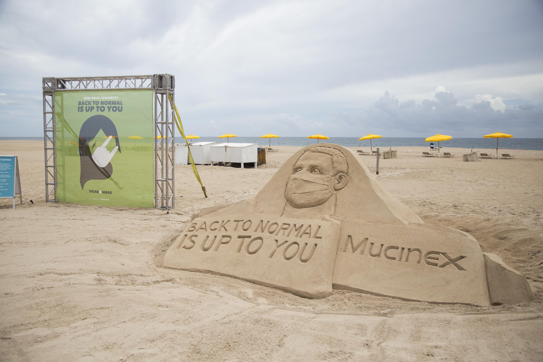 Mucinex - Wear a mask (Sand sculpture 2)