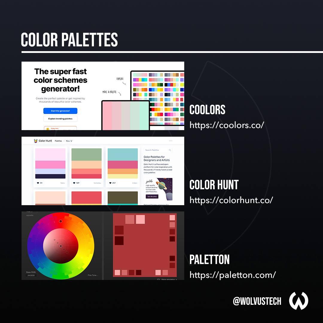 Useful design websites for color palettes