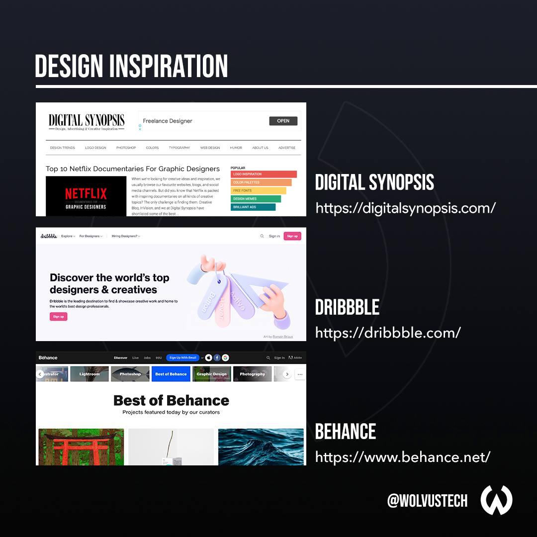 Useful design websites for design inspiration