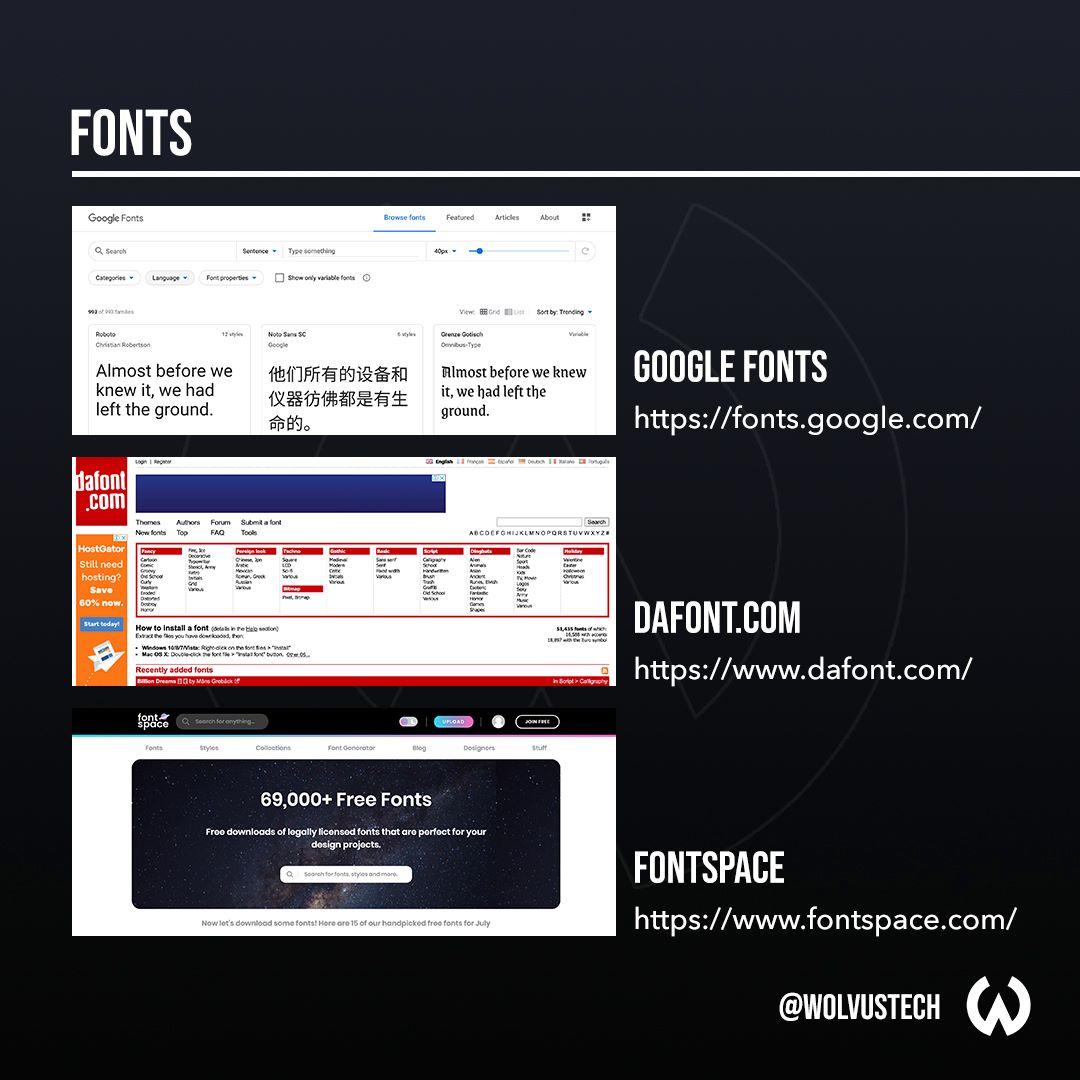 Useful design websites for fonts