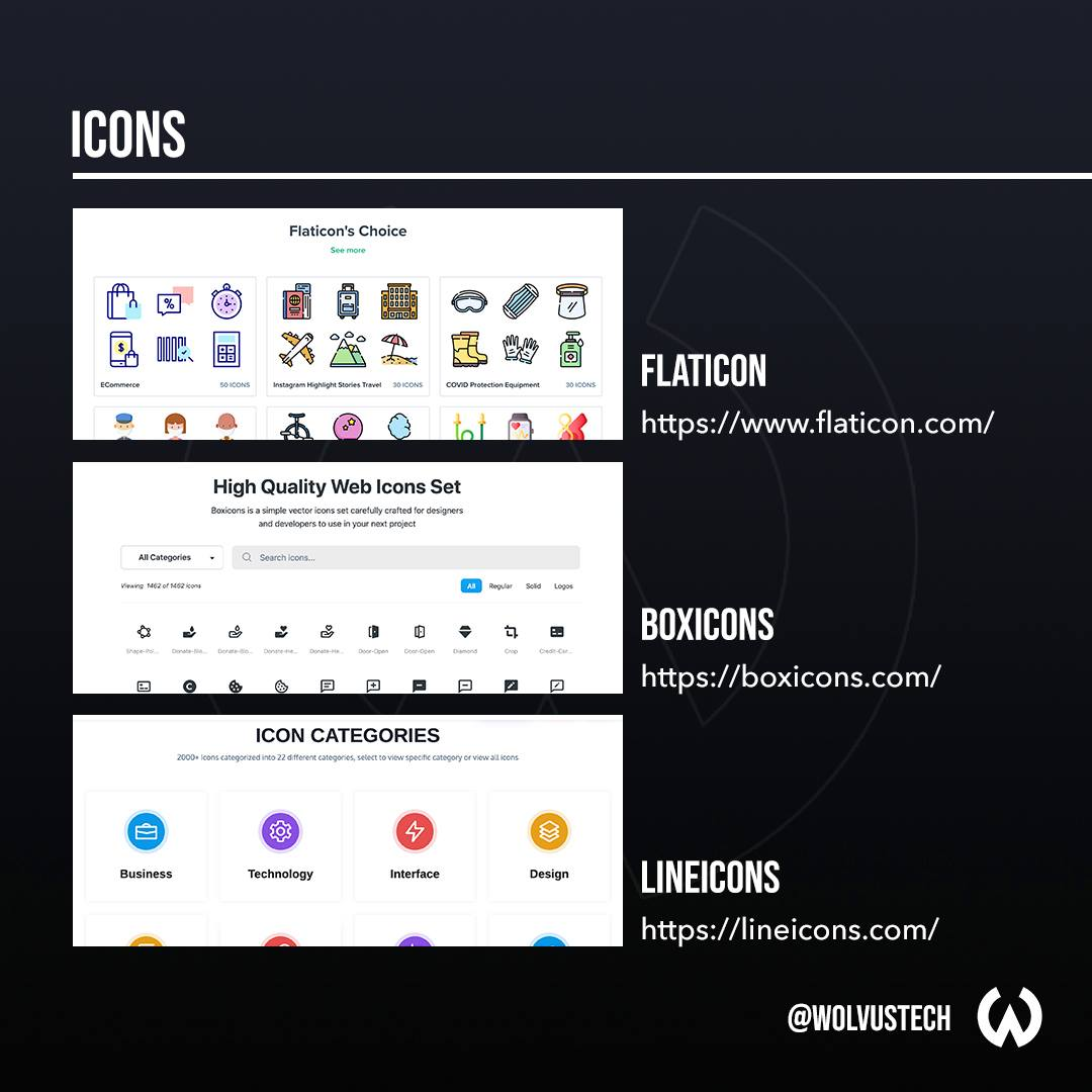 Useful design websites for icons