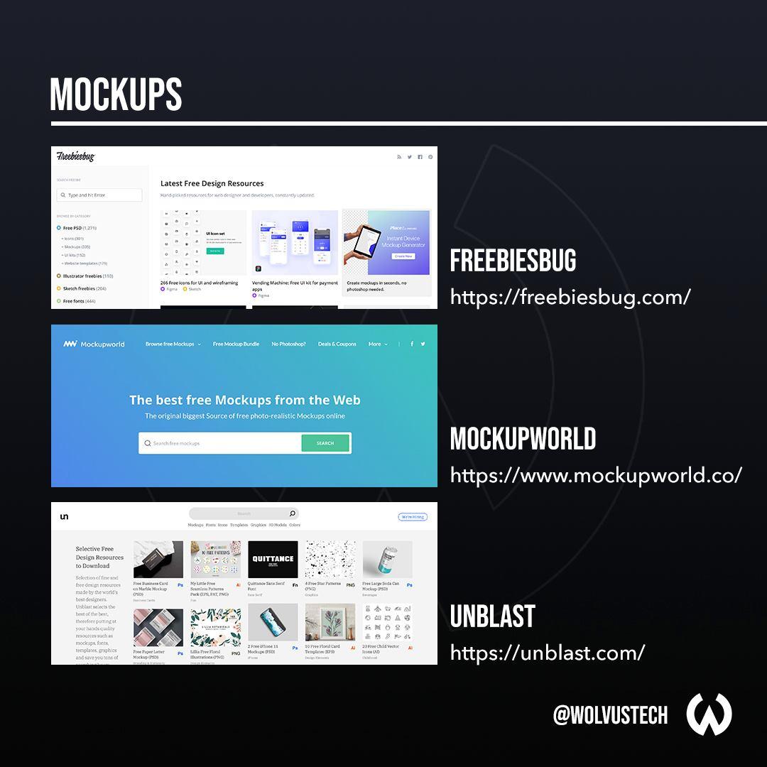 Useful design websites for mockups