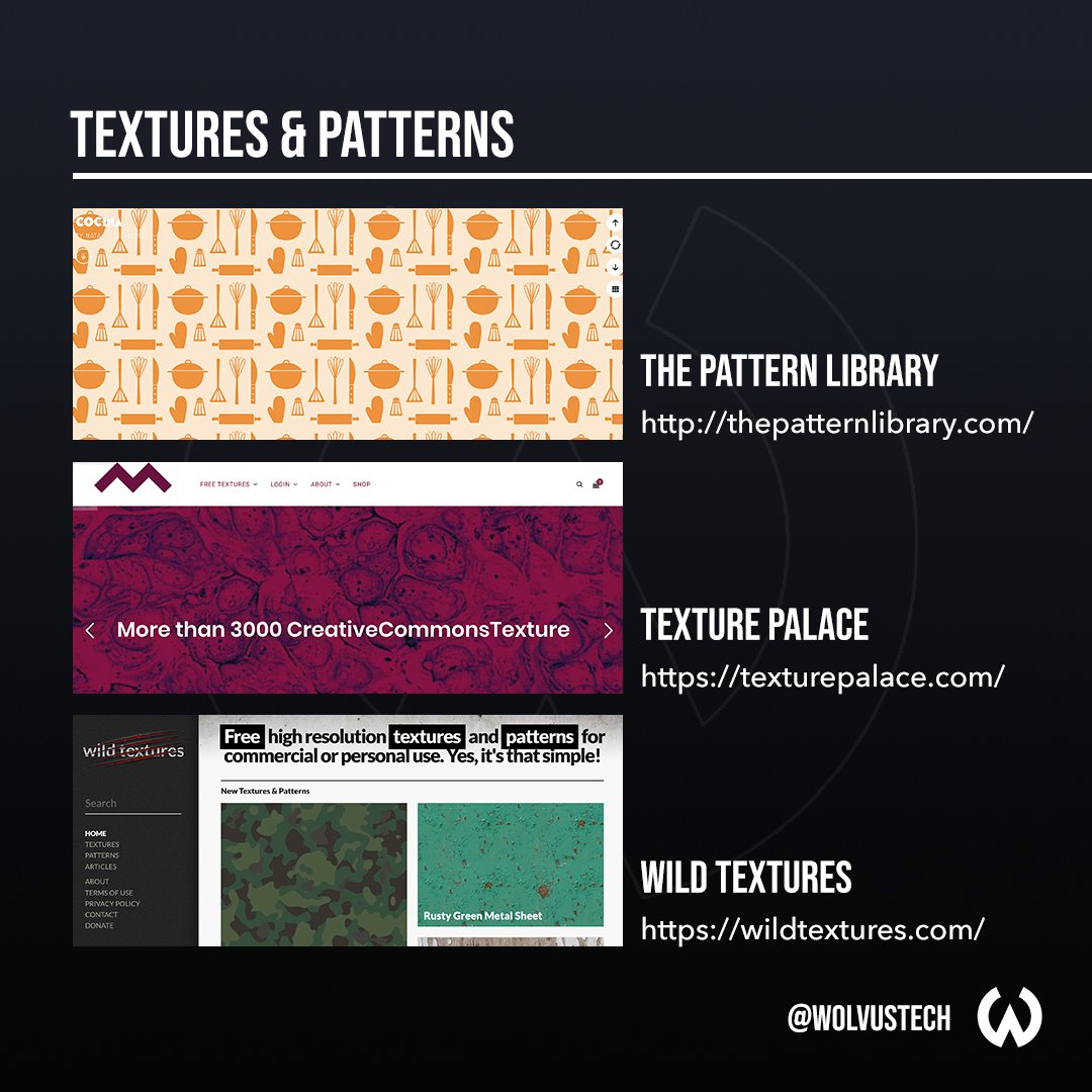 Useful design websites for textures & patterns