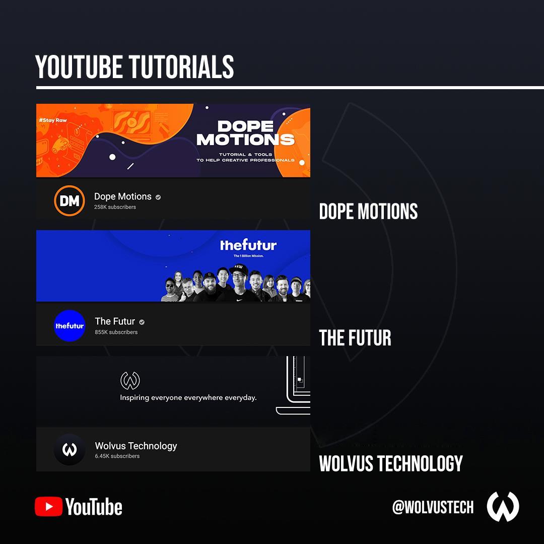 Useful design websites for YouTube tutorials