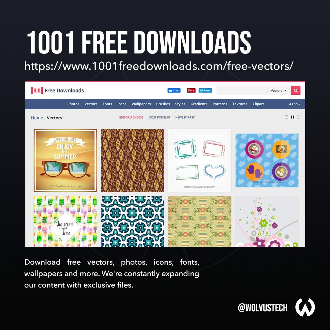 Top sites for free vector assets - 1001FreeDownloads.com