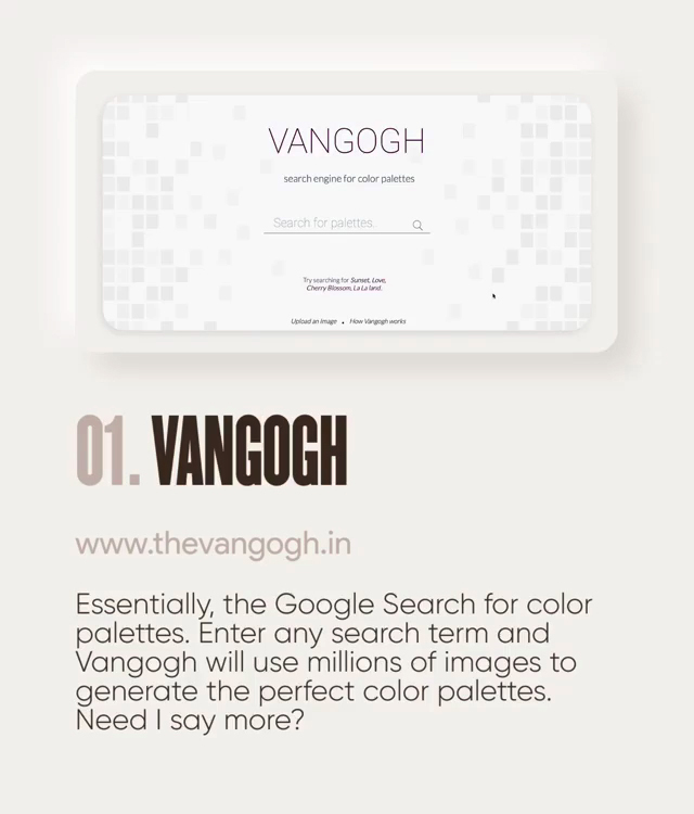 Useful design tools - TheVanGogh.in