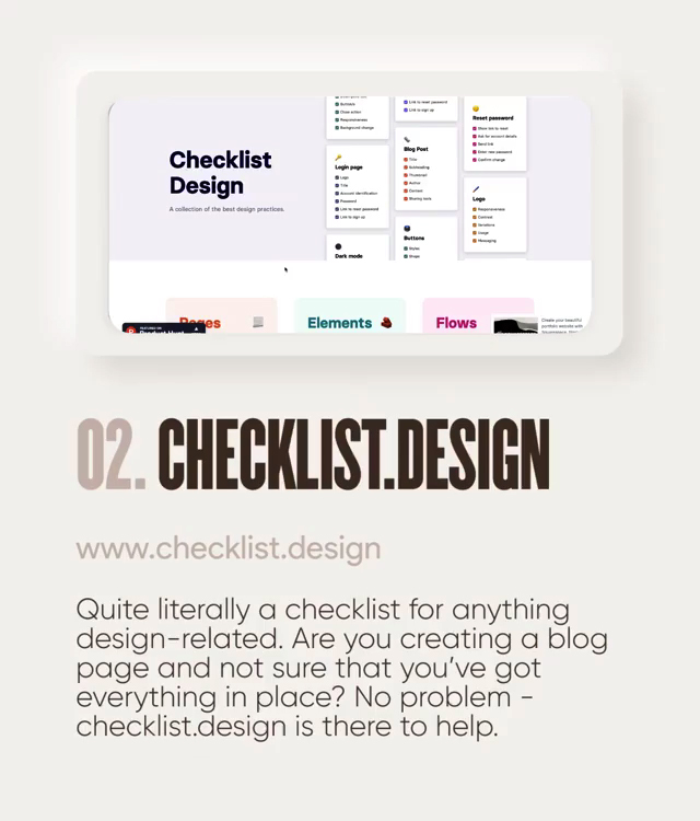 Useful design tools - Checklist.design
