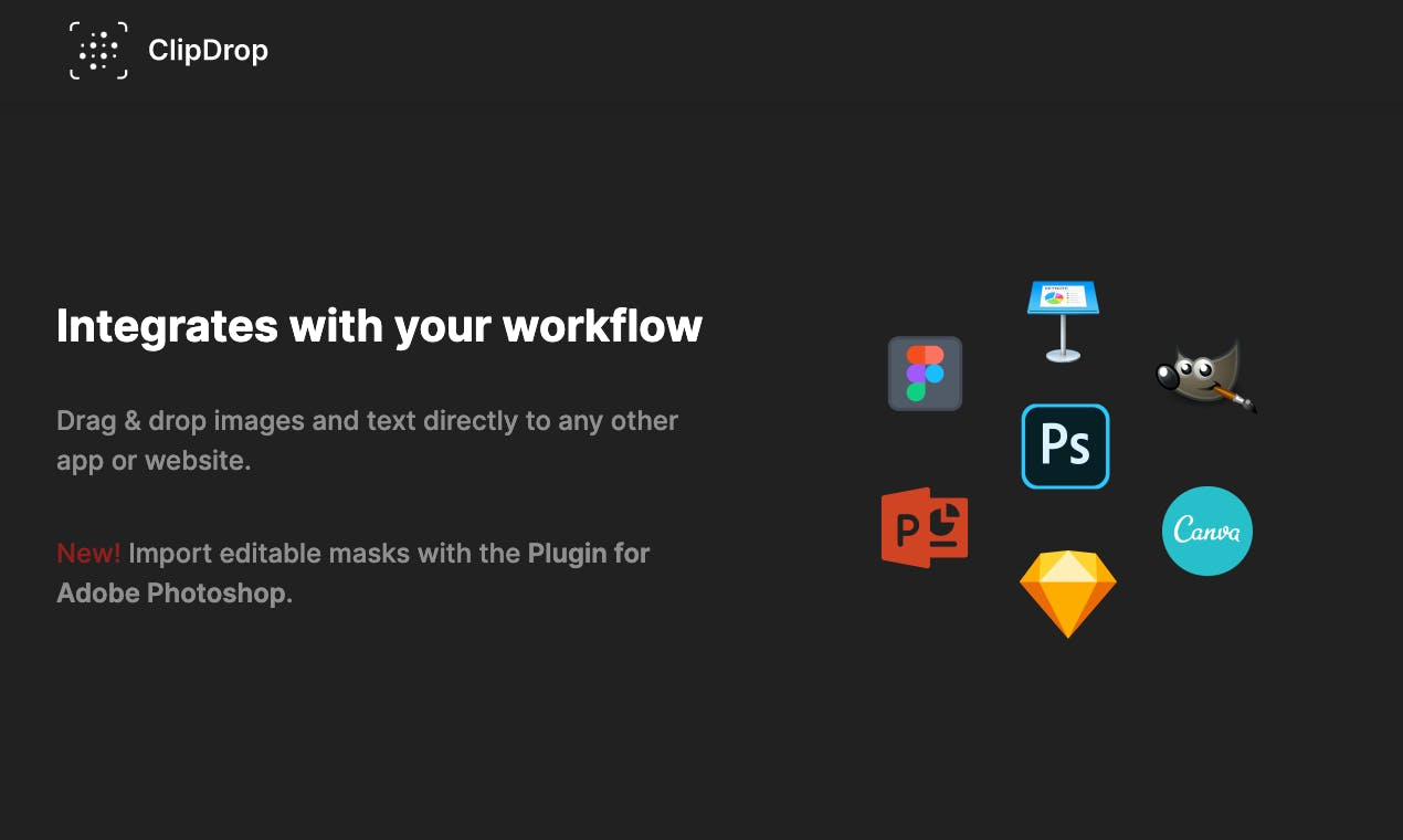 ClipDrop - Integrates with your workflow