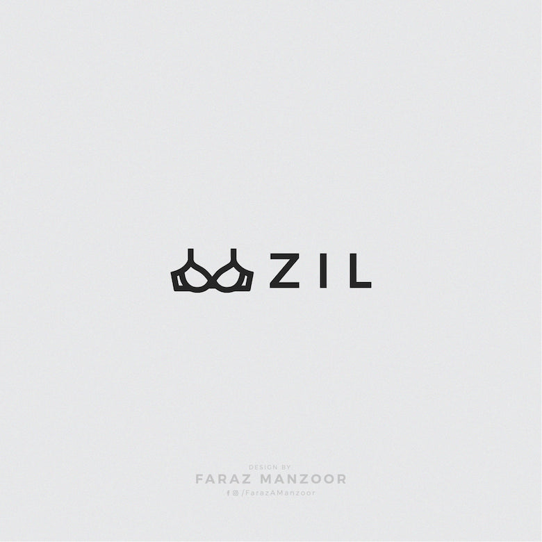Typographic icons of countries - Brazil