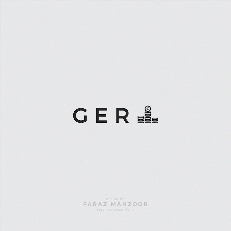 Typographic icons of countries - Germany