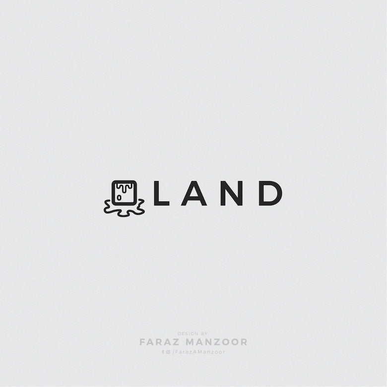 Typographic icons of countries - Iceland