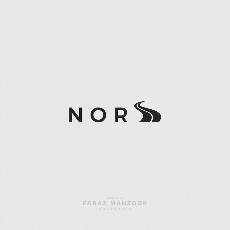 Typographic icons of countries - Norway