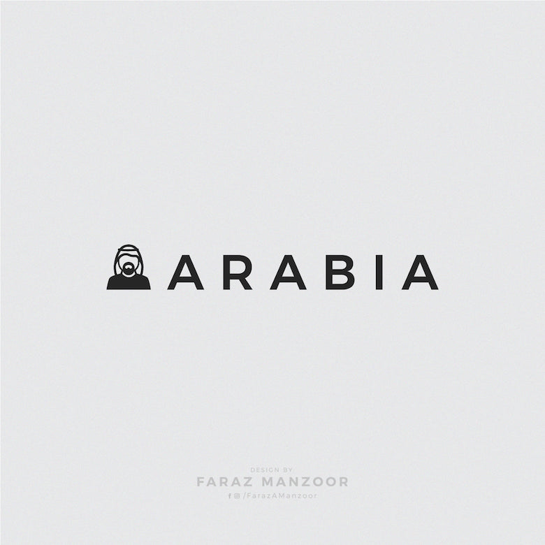 Typographic icons of countries - Saudi Arabia