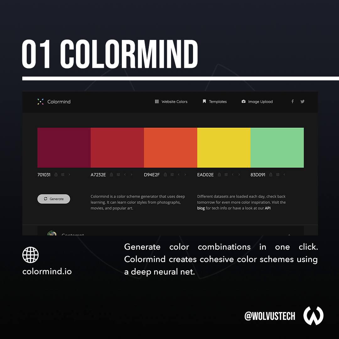 Useful AI tools for designers - Colormind.io