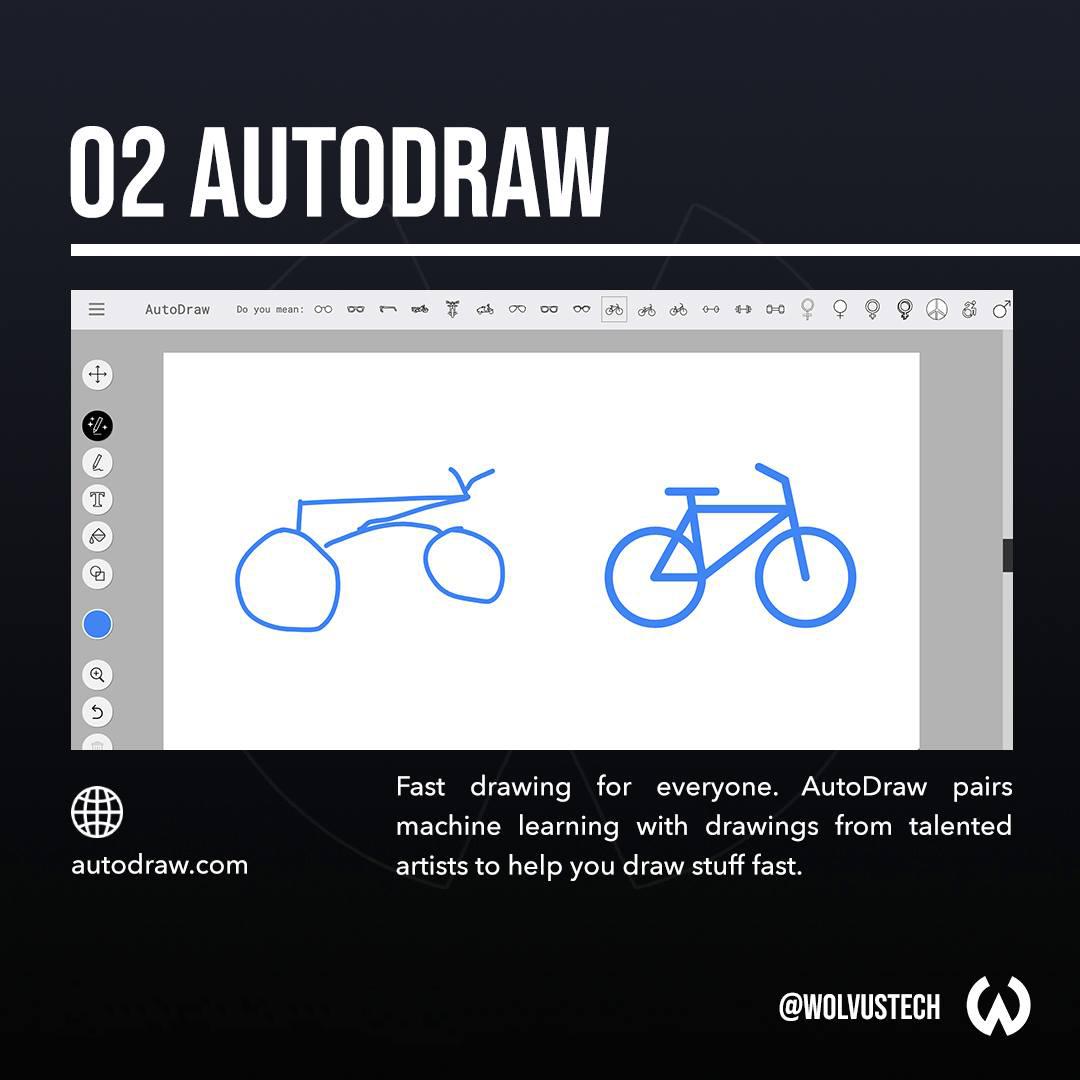 Useful AI tools for designers - AutoDraw.com