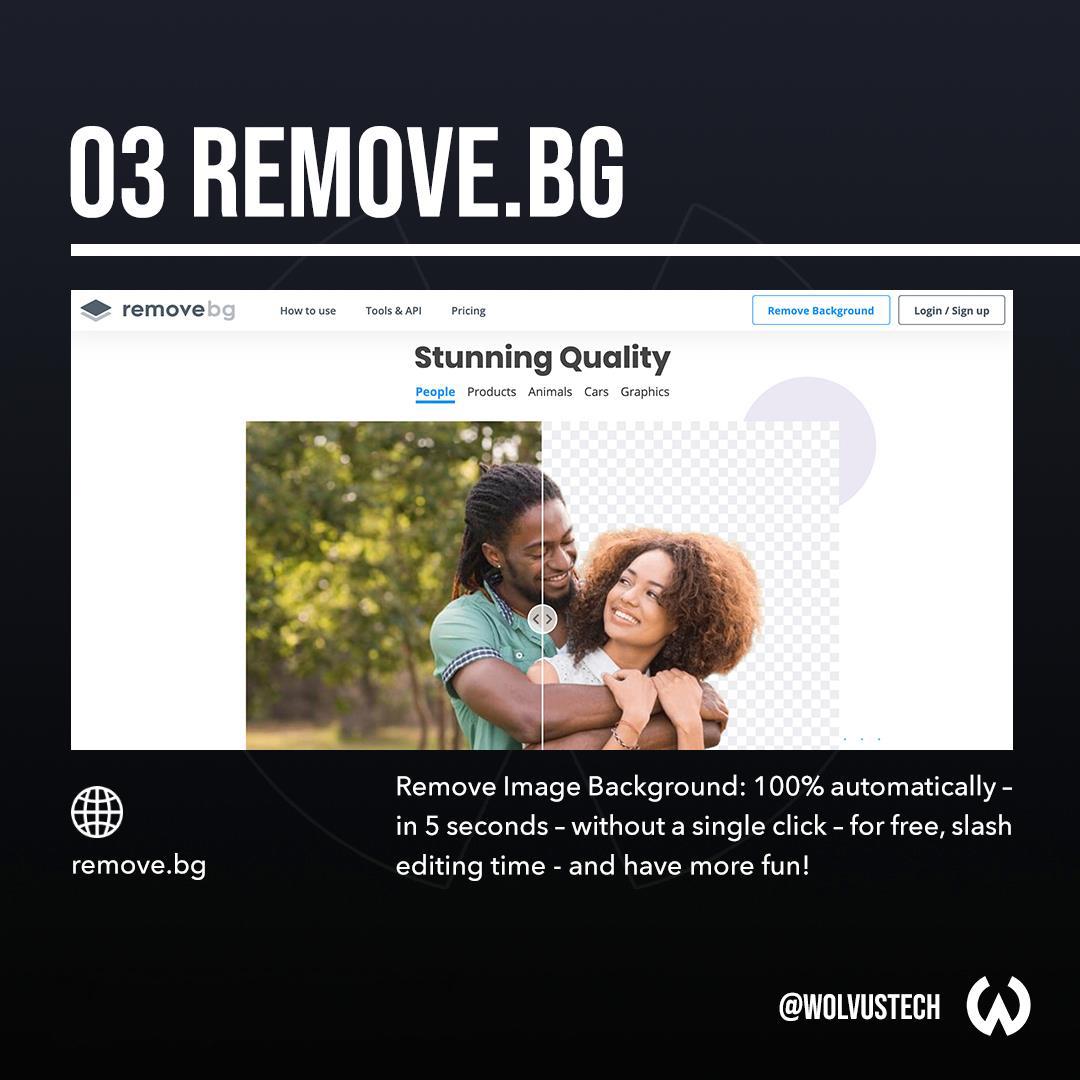 Useful AI tools for designers - Remove.bg