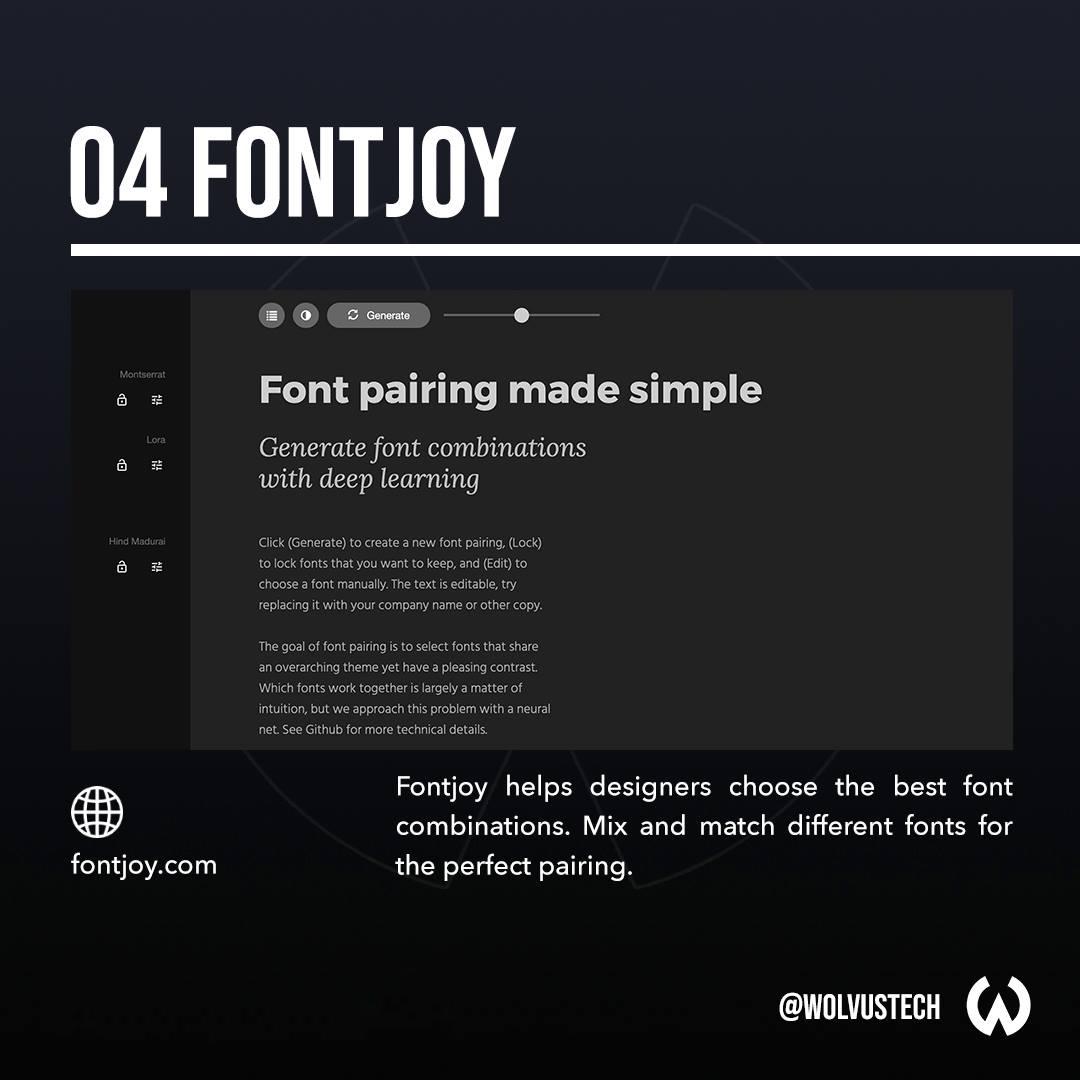 Useful AI tools for designers - Fontjoy.com