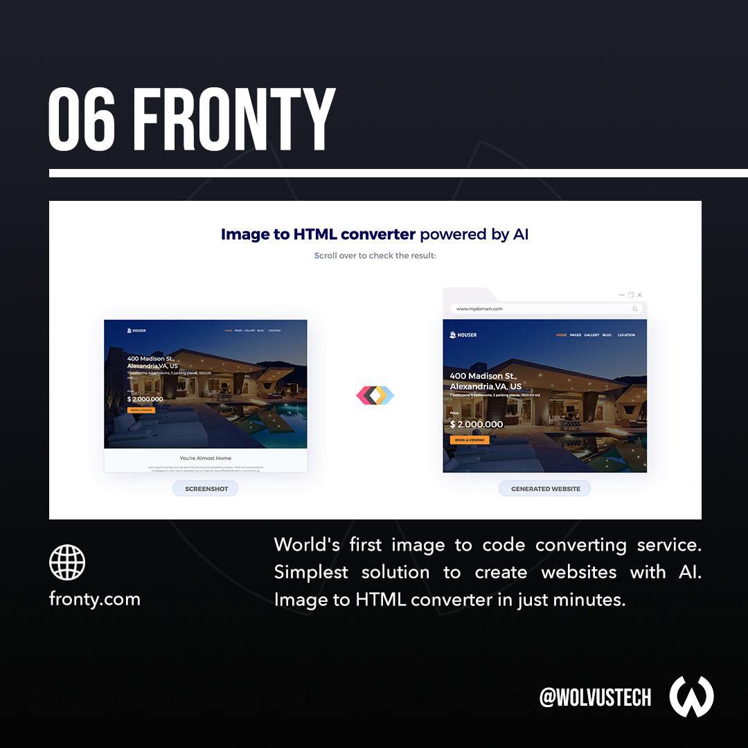 Useful AI tools for designers - Fronty.com