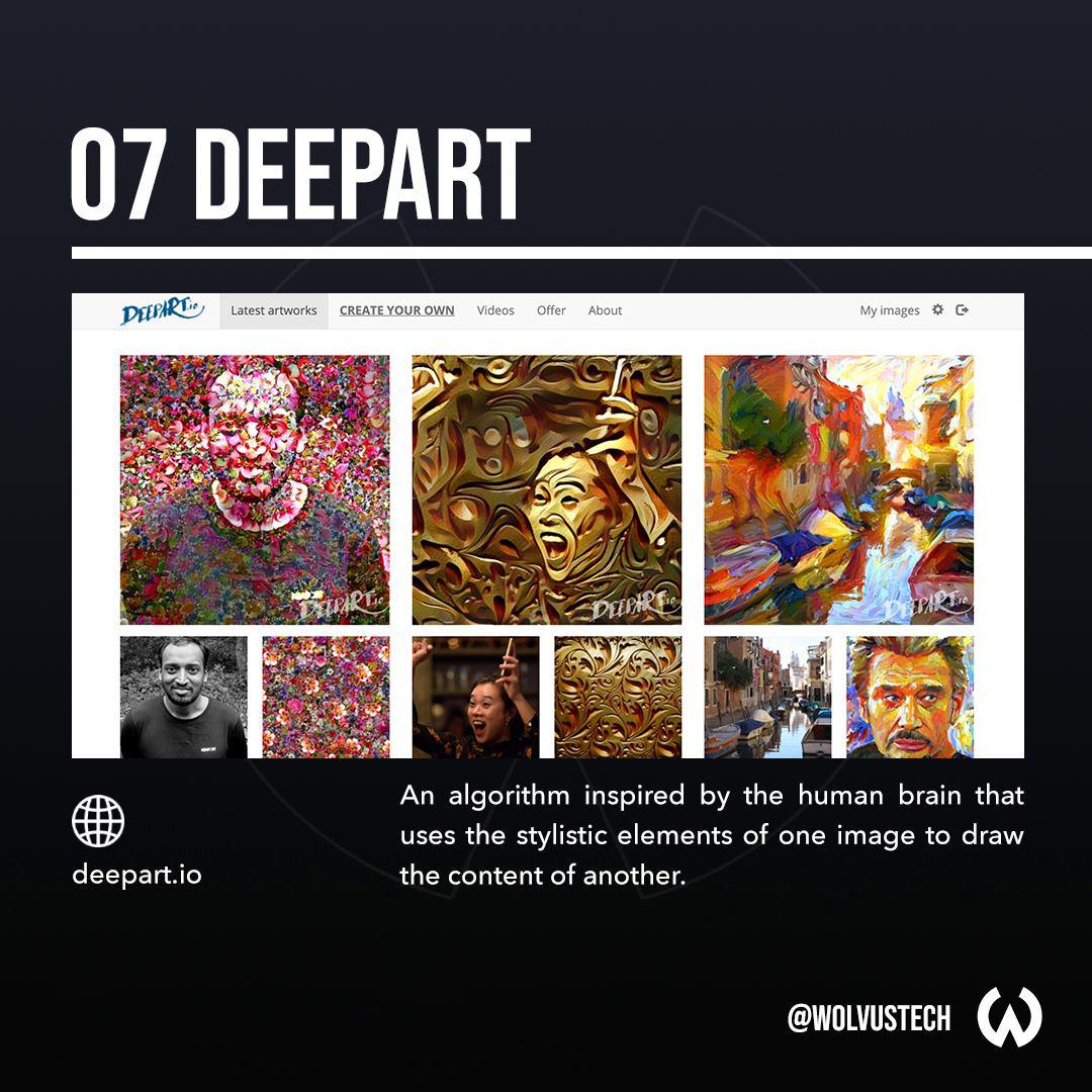 Useful AI tools for designers - DeepArt.io