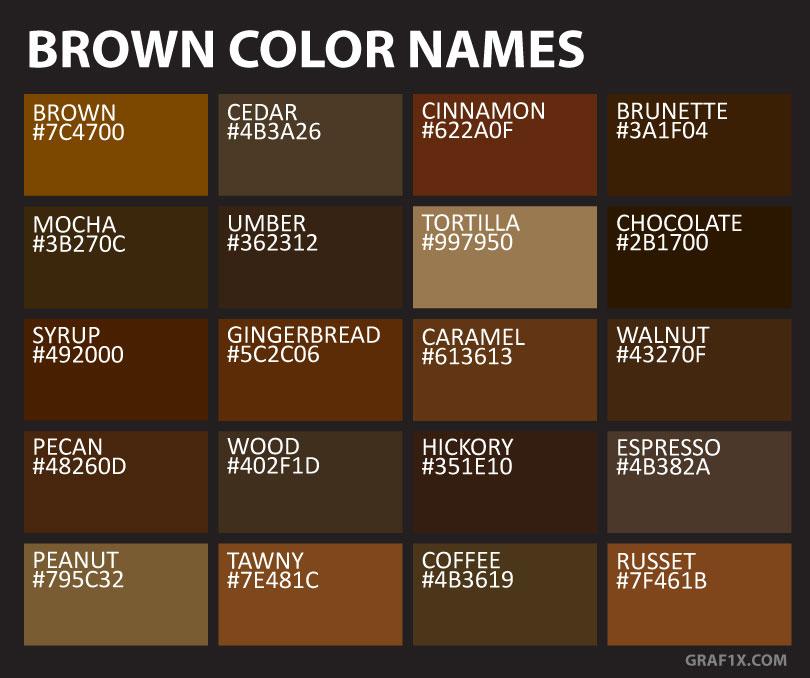 Brown Color Names & Shades
