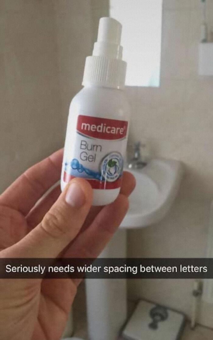 Funny Letter-Spacing & Kerning Fails - Burn Gel