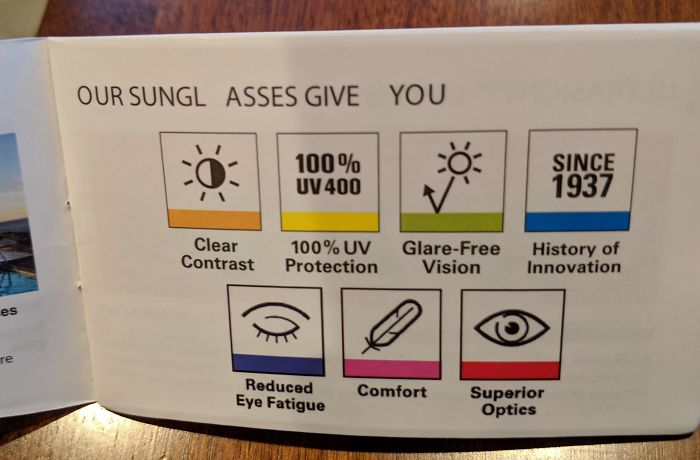 Funny Letter-Spacing & Kerning Fails - Our sunglasses give you...