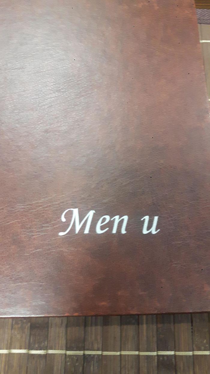 Funny Letter-Spacing & Kerning Fails - Men u