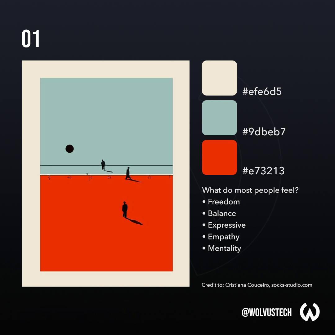 Red, Green, Beige Color Palette, Combination, Scheme