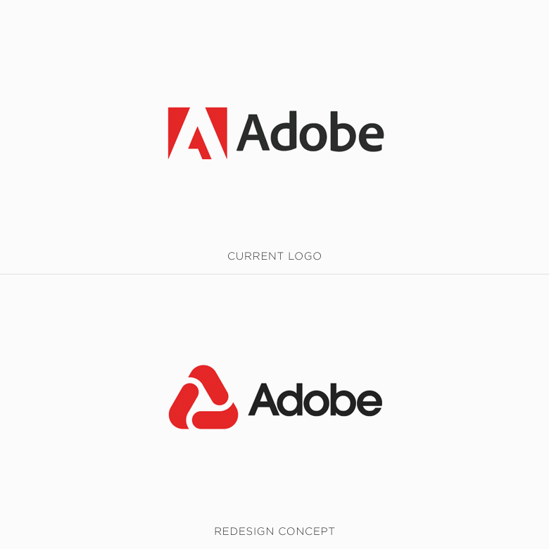 Famous logos redesigned & rebranded concepts - Adobe