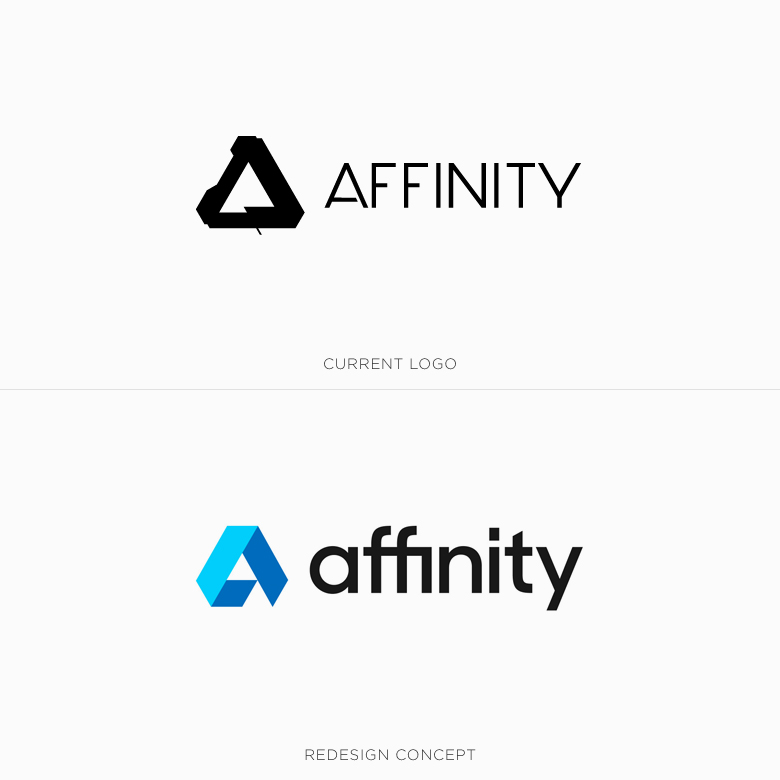 Famous logos redesigned & rebranded concepts - Affinity
