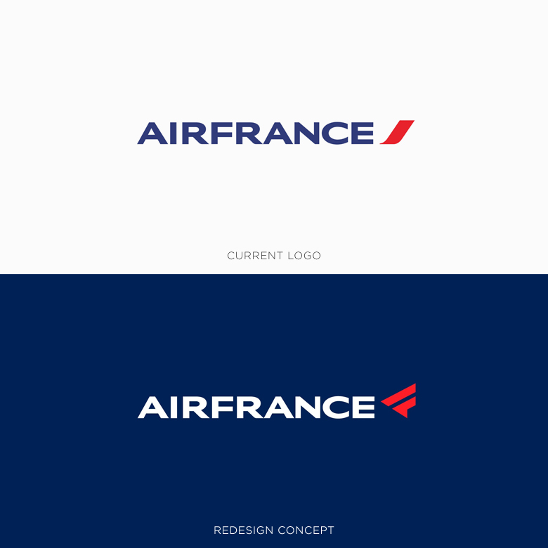 Famous logos redesigned & rebranded concepts - Air France