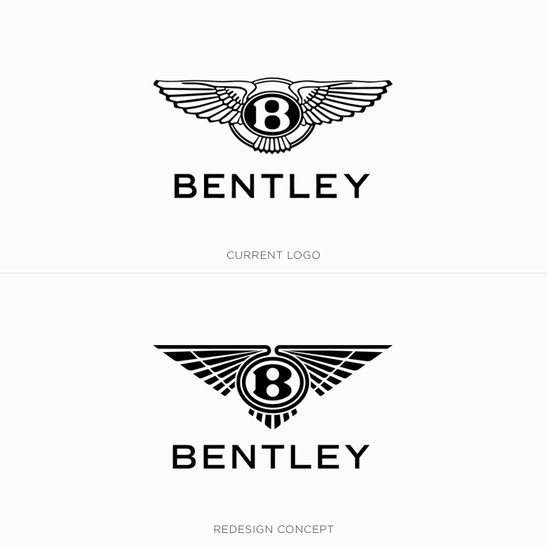 Famous logos redesigned & rebranded concepts - Bentley